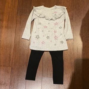 Rococo grey and black little girl outfit size 3